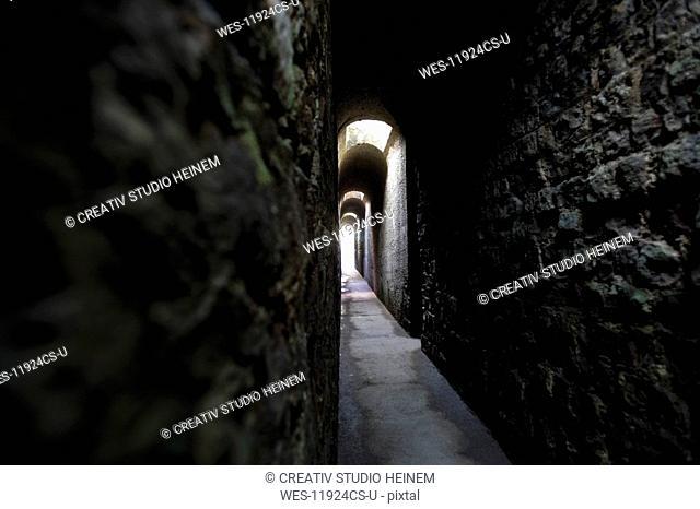 Germany, Rhineland-Palatinate, Treves, Imperial Thermal Bath, Subterranean corridor