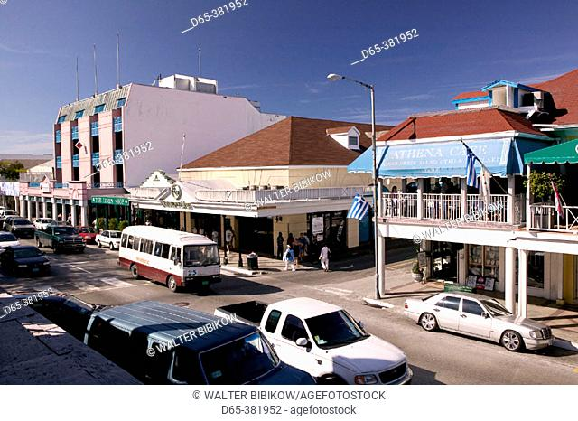 Bahamas, New Providence Island, Nassau: Downtown Nassau, Bay Street Traffic