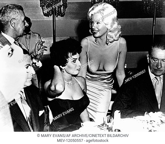 Sophia Loren & Jayne Mansfield Actress 01 January 1958