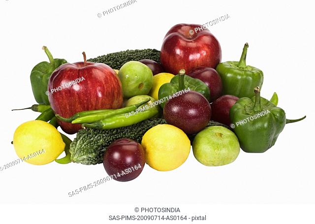 Close-up of vegetables and fruits