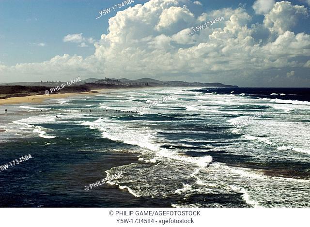Ocean beach at Coolum, Sunshine Coast, Queensland, Australia