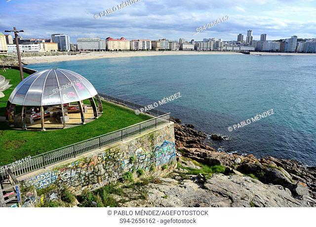 View of the Orzan cove, A Coruña, Spain
