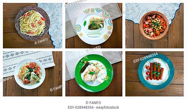 Food set .spanish traditional cuisine.closeup