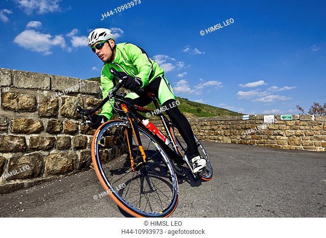 racing cycle, sport, Wachau, Lower Austria, man, racing bicycle, bicycle, bike, curve