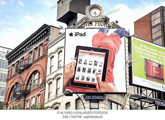 Ipad ad, Soho, Manhattan, New York City  USA