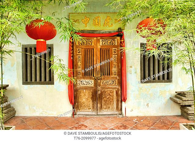 Traditional Chinese shop houses in the UNESCO World Heritage zone of Georgetown in Penang, Malaysia