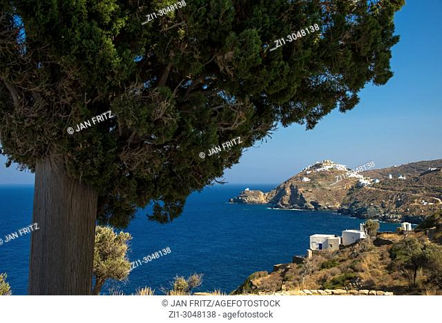 view at coast near Poulati at Sifnos, Greece