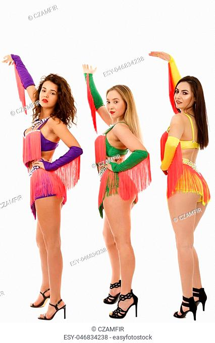 Samba brazilian dancer wearing the specific costume