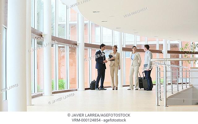 Executives walking in congress building, Business, San Sebastian Technology Park, Donostia, San Sebastian, Gipuzkoa, Basque Country, Spain