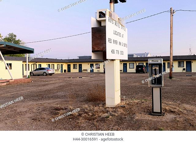 North America, USA, Great Plains, Montana, Roys Motel in Baker