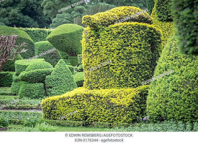 Geometric Hedgebery of Levens Hall , Kendal, Cumbria , UK