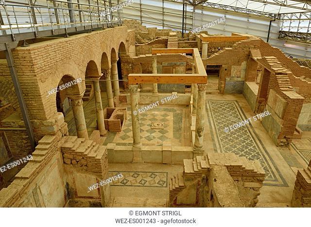 Turkey, Izmir Province, Archaeological site of Ephesus, Terrace houses