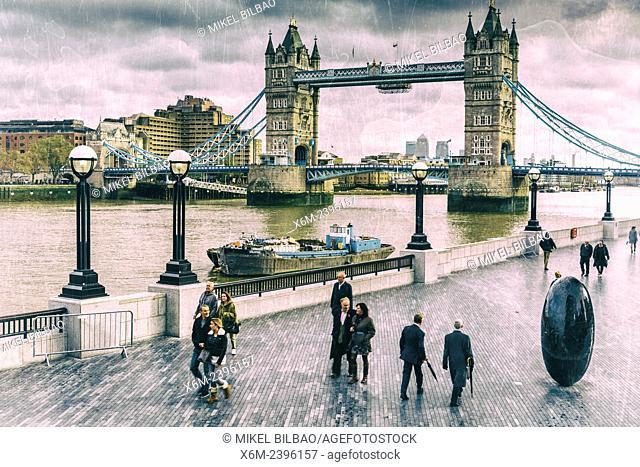 Tower Bridge and River Thames. London, United Kingdom, Europe