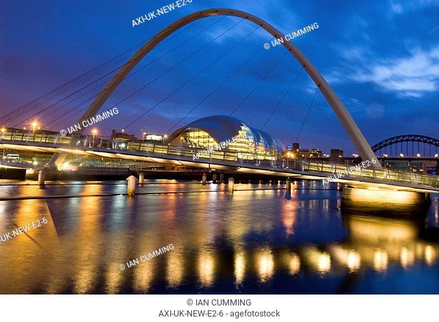Winking Bridge and Sage Centre over the Tyne