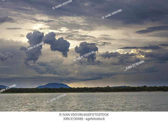 Lake sunset landscape, Tanzania, East Africa