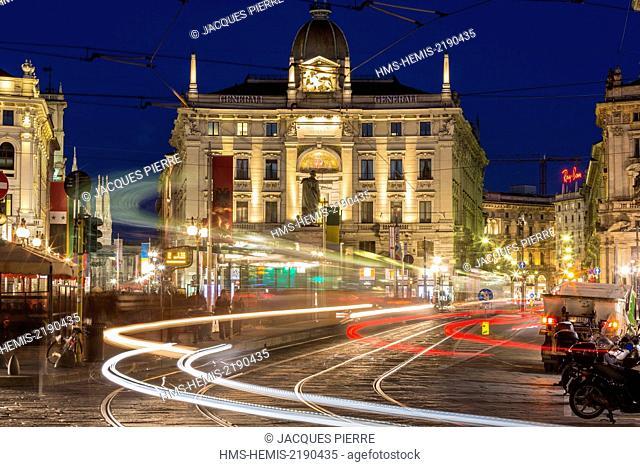 Italy, Lombardy, Milan, piazza Cordusio square