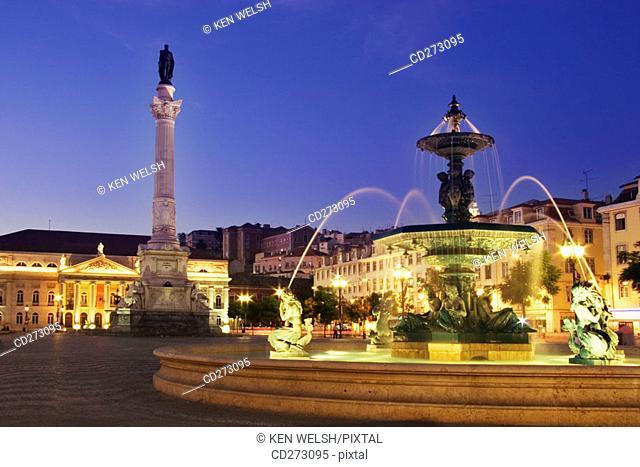 Praça D. Pedro IV (aka Rossio Square), Lisbon. Portugal