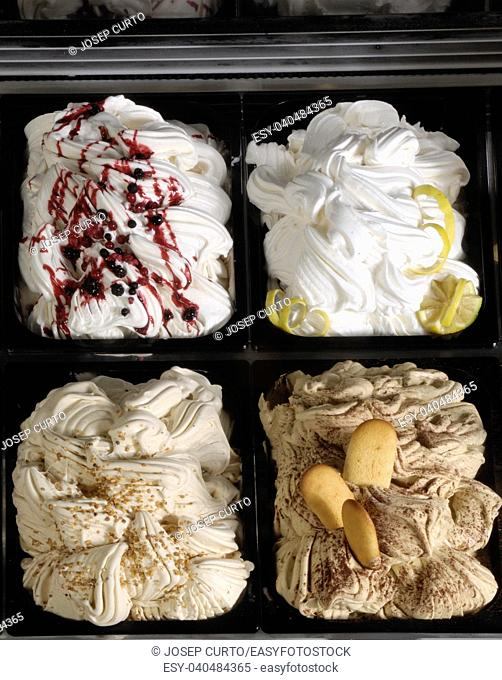 collection of ice crean