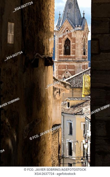 """Torre de la iglesia del Salvador - Cuenca â. """" Castilla La Mancha â. """" España - Europa"""