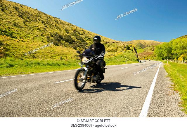 Motorcycling; South Island, New Zealand