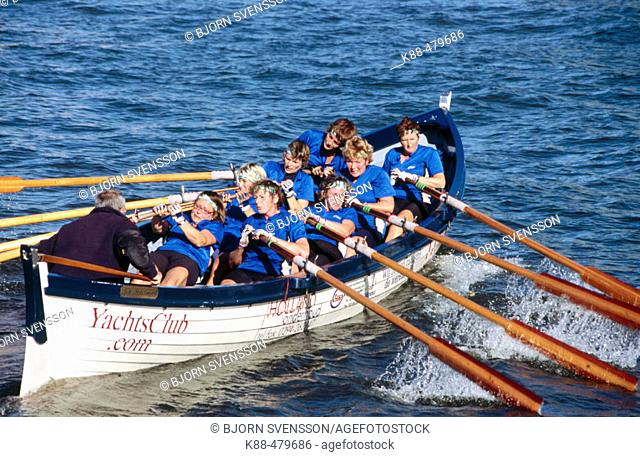 Rowing competition. Amsterdam, Netherlands