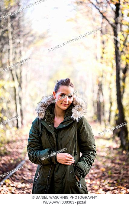 Portrait of woman in autumnal nature
