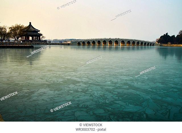 Seventeen hole bridge of The Summer Palace in Beijing