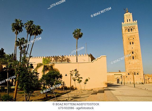 Jamaa Al Koutoubia mosque in Marrakesh, Morocco