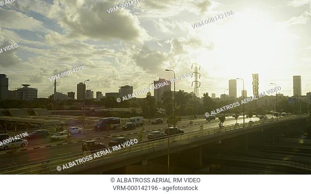 Tel Aviv Sunset at ayalon highway 4k timelapse