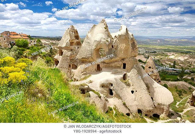 Cappadocia, caves carved in the rocks, Uchisar, Turkey