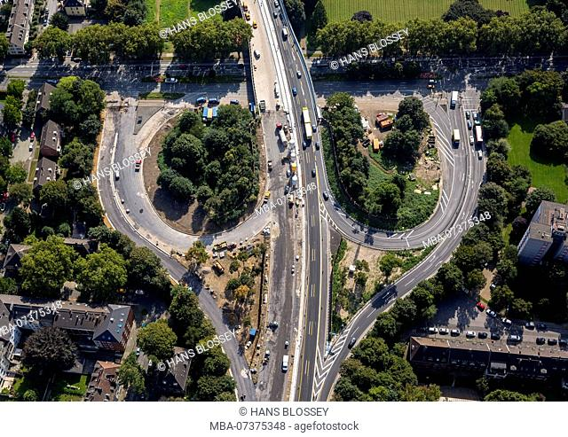 A59 development and reconstruction, closure, Duisburg, Ruhr district, North Rhine-Westphalia, Germany