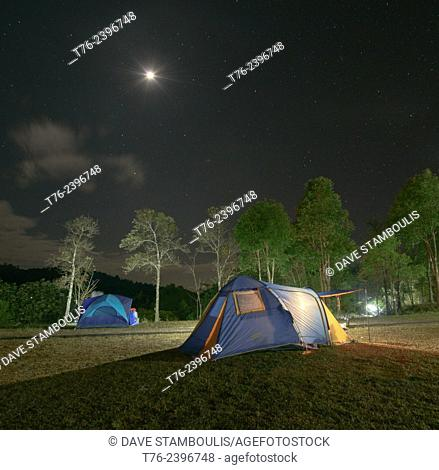 Camping in Doi Phu Kha National Park, Nan Province, Thailand
