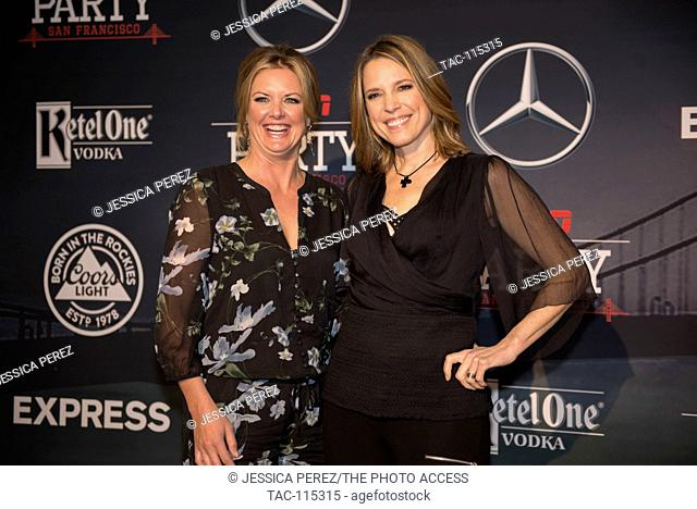 Wendi Nix and Hannah Storm arrive at ESPN The Party at Fort Mason on February 5th, 2016 in San Francisco, California
