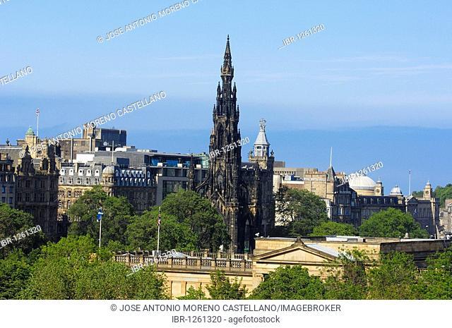Scott monument, Edinburgh, Lothian Region, Scotland, United Kingdom, Europe