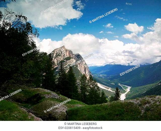 Blick auf Cortina d ampezzo