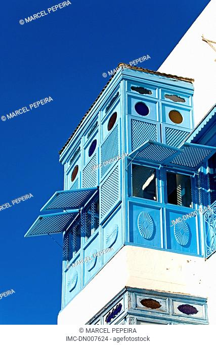 Tunisia, Sidi Bou Said, traditional window
