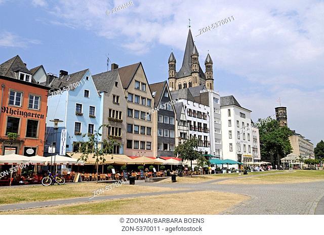 Great Saint Martin Church, Romanesque church, Fischmarkt square, historic center, Cologne, North Rhine-Westphalia, Germany, Europe, Gross St Martin
