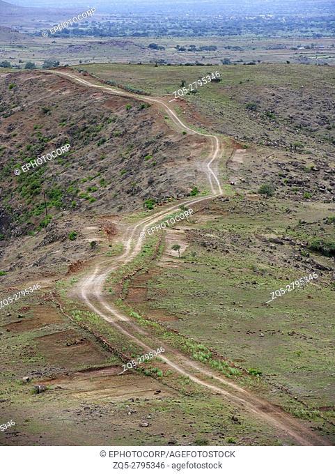 Indian rural village road