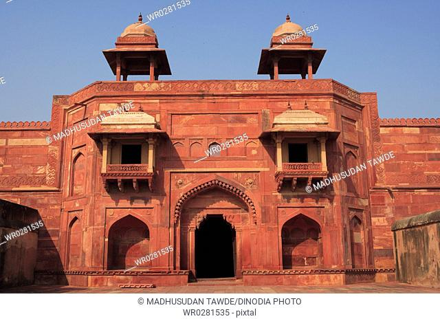 Jodh Bais palace in Fatehpur Sikri built during second half of 16th century , Agra , Uttar Pradesh , India UNESCO World Heritage Site