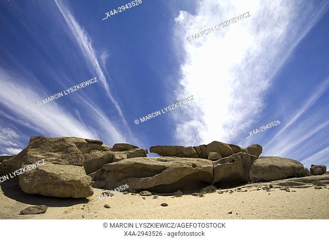 Close up on giant stones on Namib desert near Swakopmund, Namibia