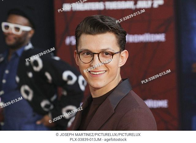 """Tom Holland at Columbia Pictures' and Marvel Studios' """"""""Spider-Man Far From Home"""""""" World Premiere held at the TCL Chinese Theatre in Hollywood, CA, June 26"""