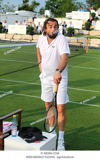 ATP World Tour Mercedes Cup 2014 at TC Weissenhof tennis club. Featuring: Henri Leconte Where: Stuttgart, Germany When: 07 Jul 2014 Credit: WENN.com