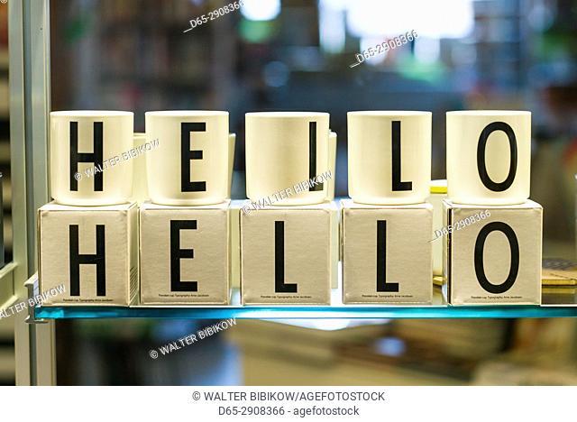 Canada, Ontario, Toronto, cups spelling Hello
