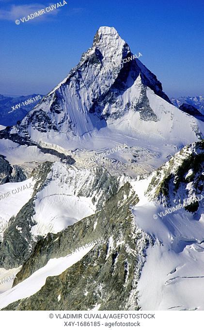 The north face of Matterhorn, Wallis Alps, Switzerland