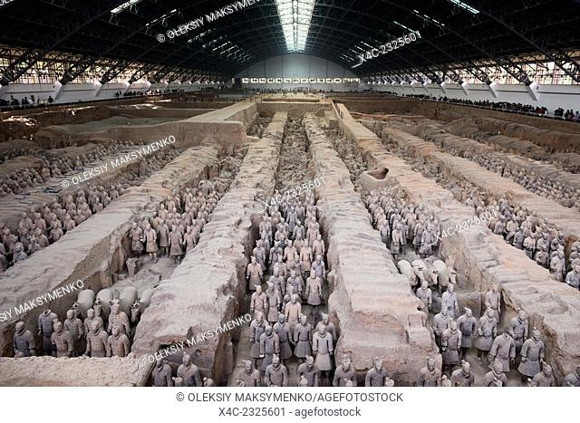 Museum of Qin Terra cotta Warriors and Horses, Terracotta army in Xi'an, Shaanxi, China 2014