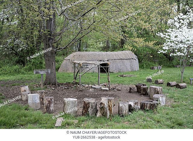 Delaware Indians village, Churchville Nature Center, Pennsylvania, USA