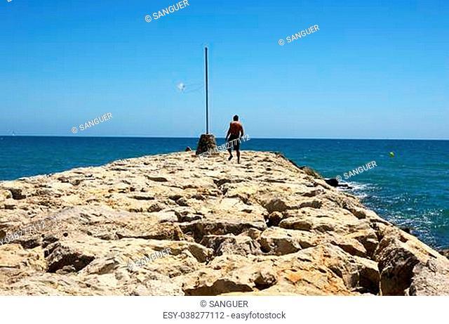 Levee of Sitges's breakwater, Barcelona
