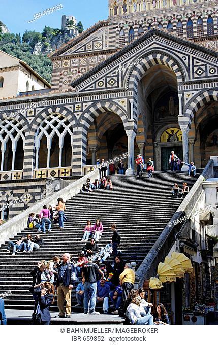 Amalfi Amalfi coast Campania Italy Italia cathedral squar Piazza del Duomo