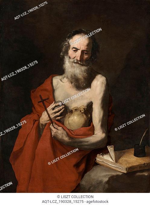 Saint Jerome, c. 1638-1640. Jusepe de Ribera (Spanish, 1591-1652). Oil on canvas; framed: 150 x 121.5 x 9 cm (59 1/16 x 47 13/16 x 3 9/16 in