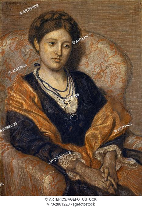 Ford Madox Brown - Portrait of Miss Iza Duffus Hardy - Birmingham Museum and Art Gallery